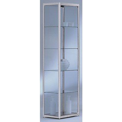 BST INSIDE Standvitrine vollverglast - quadratisch, 4 Böden - HxBxT 1820 x 400 x 400 mm