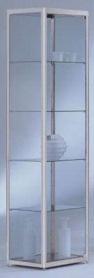 INSIDE Standvitrine vollverglast - quadratisch, 4 Böden