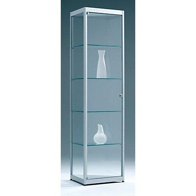 BST INSIDE Dreieckvitrine 60° - 4 Böden, 3-seitig verglast - HxBxT 1820 x 577 x 577 mm