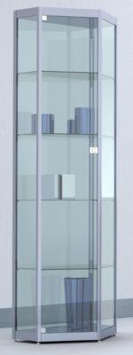 INSIDE Spitzeckvitrine - 4 Böden, Spiegelrückwand - HxBxT 1820 x 620 x 410 mm