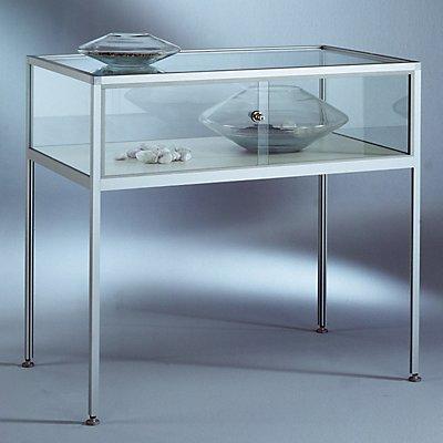 INSIDE Tischvitrine - 5-seitig verglast, Sichthöhe 250 mm - HxBxT 900 x 1000 x 600 mm