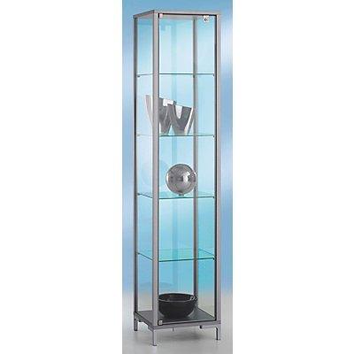 BST LINK Säulenvitrine - 4 Böden, Drehtür - HxBxT 1860 x 400 x 400 mm