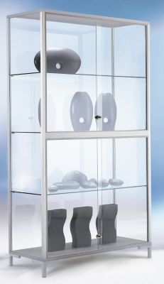 LINK Standvitrine - Verglasung 4-seitig