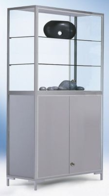 LINK Staufachvitrine - Verglasung 4-seitig, mit Unterschrank