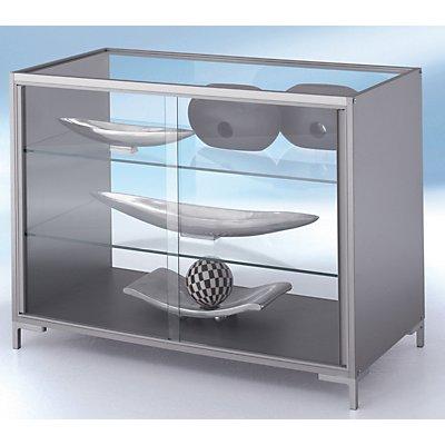 BST LINK Thekenvitrine - vollverglast, 2 Böden - HxBxT 900 x 1200 x 600 mm