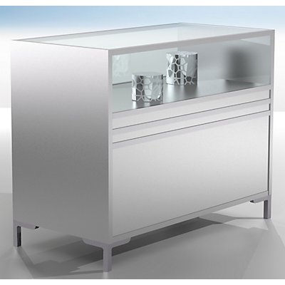 LINK Thekenvitrine - 1/3 verglast - HxBxT 900 x 1200 x 600 mm
