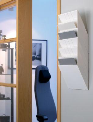 Durable Wandprospektspender - Querformat, 6 x DIN A4, VE 2 Stk