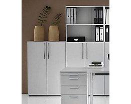 office akktiv NICOLA Armoire et rayonnage combinés - 4 tablettes, 2 casiers ouverts