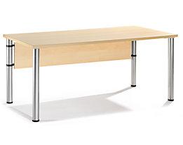 VERA Schreibtisch mit 4-Fuß-Gestell - höhenverstellbar, Breite 1600 mm