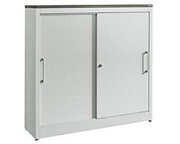 Armoire à portes coulissantes ARCOS - 2 tablettes, h x l x p 1240 x 1200 x 420 mm