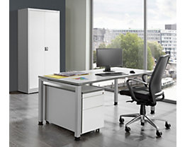 Bureau complet ARCOS - bureau, armoire à porte battante, caisson roulant à 3 tiroirs