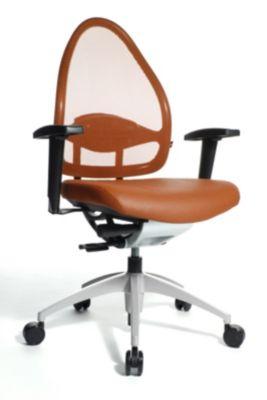 Topstar Design-Bürodrehstuhl, mit Netzrücken - Rückenlehne 550 mm