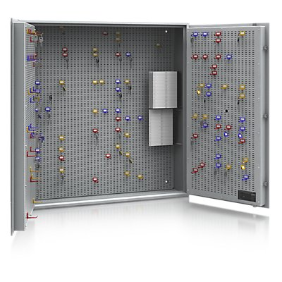 ISS Schlüsseltresor - Sicherheitsstufe A und Euro-Norm S1, lichtgrau