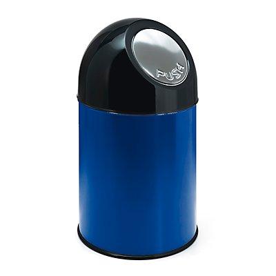 Collecteur de déchets PUSH - tôle d'acier, capacité 33 l, sans seau intérieur
