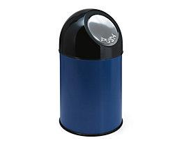 Push-Abfallsammler aus Stahlblech - Volumen 33 Liter - blau