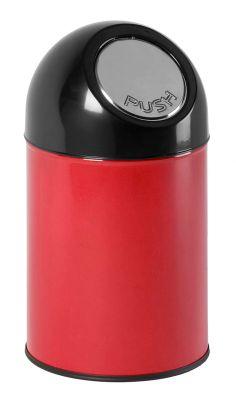Push-Abfallsammler aus Stahlblech - Volumen 33 Liter