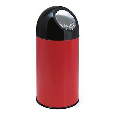 Abfallsammler PUSH - mit 40 Litern Volumen, aus Stahlblech, Innenbehälter verzinkt