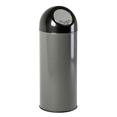 Collecteur de déchets PUSH - tôle d'acier, capacité 55 l, seau intérieur galvanisé