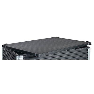 KIGA Deckel aus ABS-Recyclingkunststoff - für LxB 1200 x 800 mm - schwarz