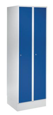 Wolf Schließfachschrank mit Sockel - HxBxT 1850 x 600 x 500 mm, 2 Fächer