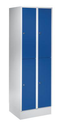 Wolf Schließfachschrank mit Sockel - HxBxT 1850 x 600 x 500 mm, 4 Fächer