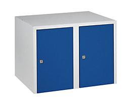 Wolf Aufsatzschrank - 2 Abteile, HxBxT 445 x 600 x 500 mm - enzianblau