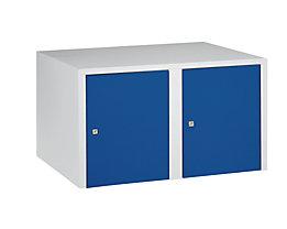 Wolf Aufsatzschrank - 2 Abteile, HxBxT 445 x 800 x 500 mm - enzianblau