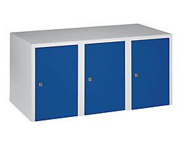 Wolf Aufsatzschrank - 3 Abteile, HxBxT 445 x 900 x 500 mm - enzianblau
