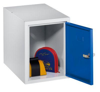 Schließfachwürfel - 1 Fach, einbrennlackiert enzianblau/lichtgrau