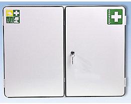 Verbandschrank nach DIN 13169 - doppeltürig, weiß, HxBxT 462 x 604 x 170 mm