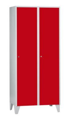 Wolf Schließfachschrank mit Füßen - HxBxT 1850 x 800 x 500 mm, 2 Fächer