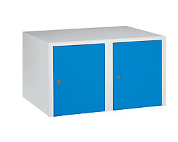 Wolf Aufsatzschrank - 2 Abteile, HxBxT 445 x 800 x 500 mm - lichtblau