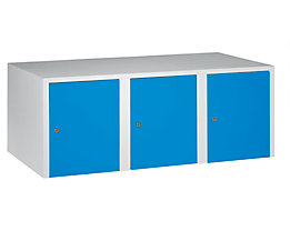 Wolf Aufsatzschrank - 3 Abteile, HxBxT 445 x 1200 x 500 mm - lichtblau