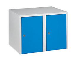 Wolf Aufsatzschrank - 2 Abteile, HxBxT 445 x 600 x 500 mm - lichtblau