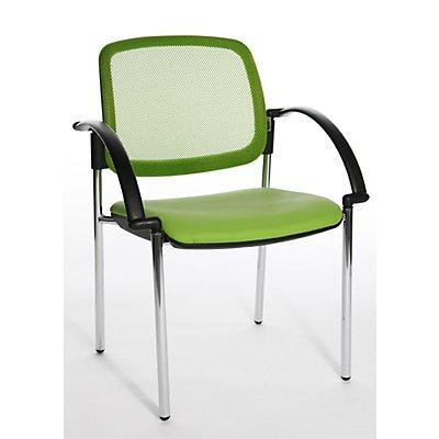 Topstar Design-Besucherstuhl, mit Netzrücken - mit Armlehnen, VE 2 Stk