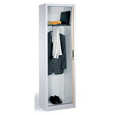 CP Garderobenschrank mit Horizontal-Rollladen - HxBxT 1980 x 600 x 420 mm, 1 Fachboden, 1 Kleiderstange