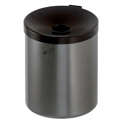 Sicherheits-Wandascher, 6 l Fassungsvermögen - Höhe 250 mm, Ø 180 mm - Stahlblech pulverbeschichtet, rot