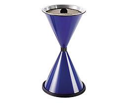 Standascher DIABOLO - Höhe 770 mm, Ø 405 mm - Stahlblech pulverbeschichtet, saphirblau