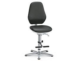 bimos Reinraum-Arbeitsdrehstuhl - mit Gleitern und Aufstieghilfe - Permanentkontakt, Sitzneigungsverstellung