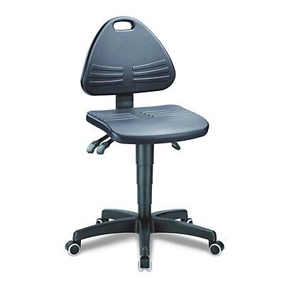 bimos Arbeitsdrehstuhl, gepolstert mit Integralschaum - mit Rollen - Höhenverstellbereich 430 – 600 mm