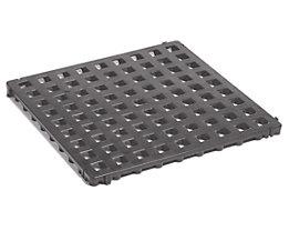 Kunststoff-Bodenrost, Polyethylen - 500 x 500 mm, Standard, VE 20 Stk - basaltgrau