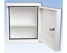 Verbandschrank nach DIN 13157 - eintürig, weiß, HxBxT 420 x 360 x 200 mm - ohne Inhalt