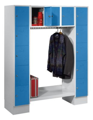 Garderobenschrank, offen - Gesamt-HxB 1850 x 1500 mm, 13 Fächer