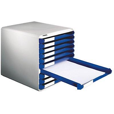 leitz blocs tiroirs kit de rangement pour courrier et formulaires coloris b ti gris. Black Bedroom Furniture Sets. Home Design Ideas