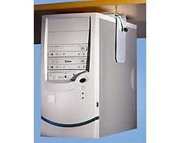 Twinco CPU-Halter zur Untermontage an Tischplatte - Belastung max. 40 kg - silber, VE 1 Stk