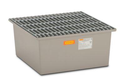 CEMO Boden-Auffangwanne - 1 x 200-l-Fass, mit Zulassung