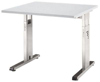 FINO Schreibtisch mit C-Fußgestell - höhenverstellbar 680 – 760 mm, BxT 800 x 800 mm