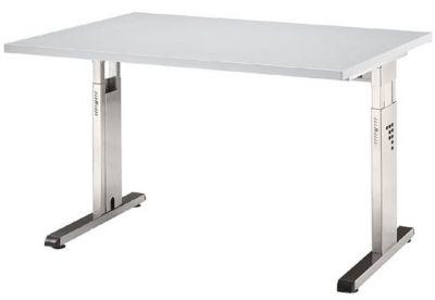 FINO Schreibtisch mit C-Fußgestell - höhenverstellbar 680 – 760 mm,