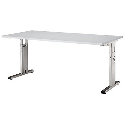 Hammerbacher FINO Schreibtisch mit C-Fußgestell - höhenverstellbar 680 – 760 mm, BxT 1600 x 800 mm
