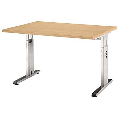 Hammerbacher FINO Schreibtisch mit C-Fußgestell - höhenverstellbar 680 – 760 mm, BxT 1200 x 800 mm